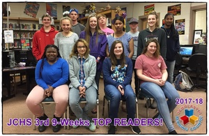 Reading Counts 3rd Nine Weeks TOP READERS!