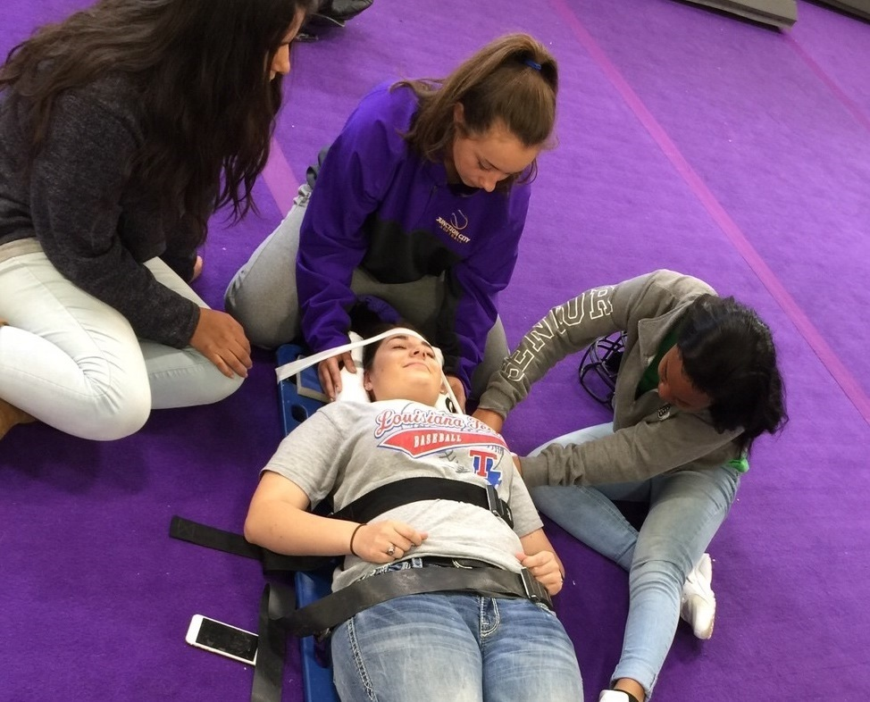 JCHS Students Learning Potentially Life Saving Techniques!