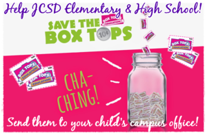 $$$ SAVE YOUR BOX TOPS $$$