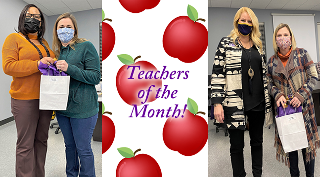 December Teachers of the Month!