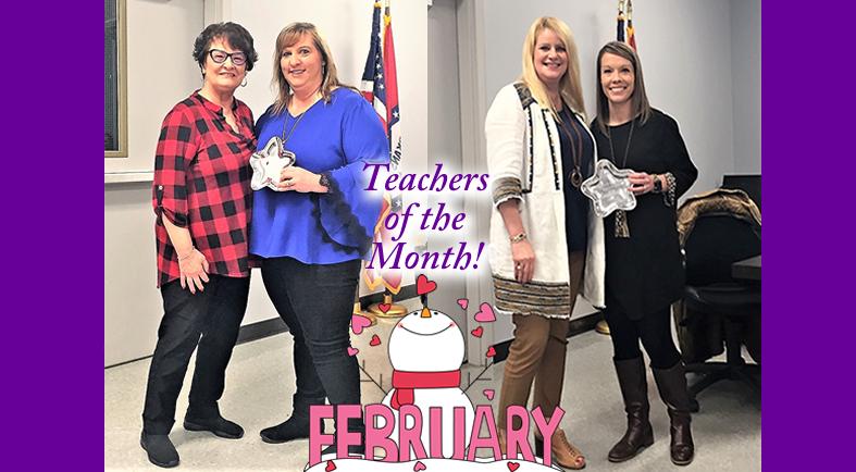 Congratulations to our February Teachers of the Month!