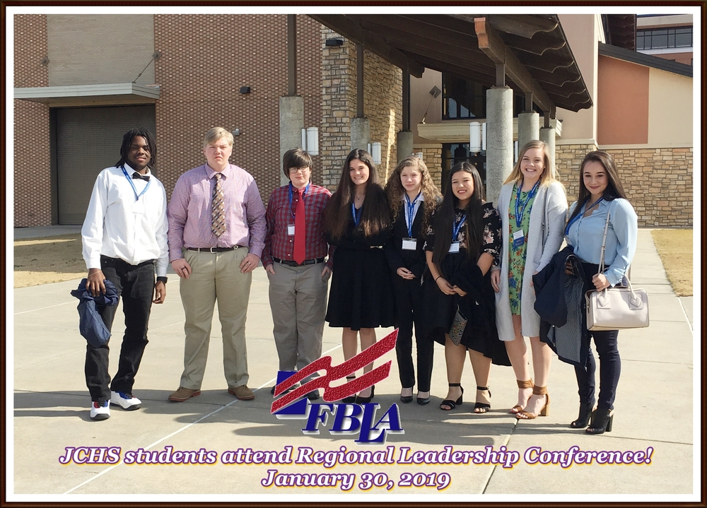 Students represent JCHS at FBLA Regional Leadership Conference!