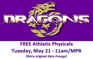 Athletic Physicals Tuesday, May 21