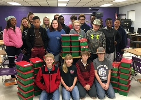 FBLA OPERATION CHRISTMAS CHILD IS A SUCCESS!