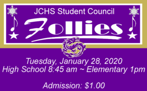 Winter Follies presented by the JCHS Student Council!