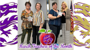 March Teachers of the Month!