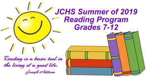 JCHS Summer Reading Assignments and Information!