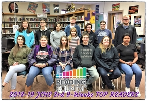 Congratulations JCHS 3rd 9-Weeks TOP READERS!