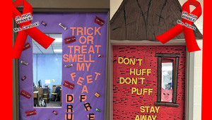 JCHS Red Ribbon Week - We sent a message - STAY DRUG FREE!