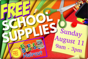 Free School Supplies & Haircuts for ALL JCSD K-12 Students!!!