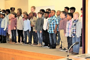 Our little Dragons sang so beautifully for our Black History Program!