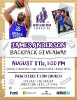 James Anderson Backpack Giveaway!