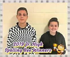 Jr. High Spelling Bee Winners!