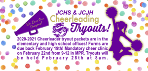 2020-2021 CHEERLEADING TRYOUTS!