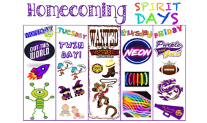 Homecoming Spirit Days!
