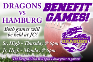 Sr. & Jr. Dragons to host Benefit Games! Admission $4