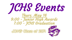 JCHS End of Year Events!