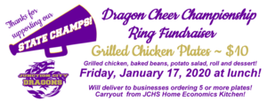 Grilled Chicken Plates on Friday, January 17!