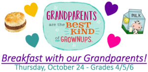 We love to show off our grandparents! Come eat breakfast with us!