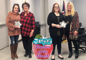 Congratulations to our January Teachers of the Month!