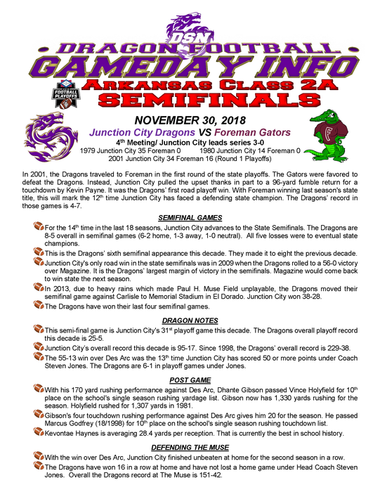 DSN - Game Day Info