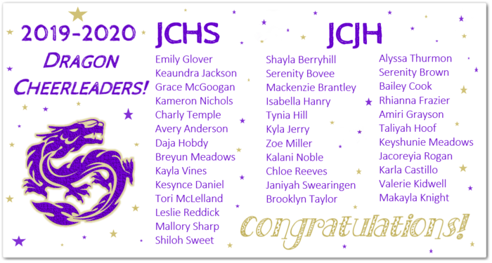 2019-2020 Dragon Cheerleaders!