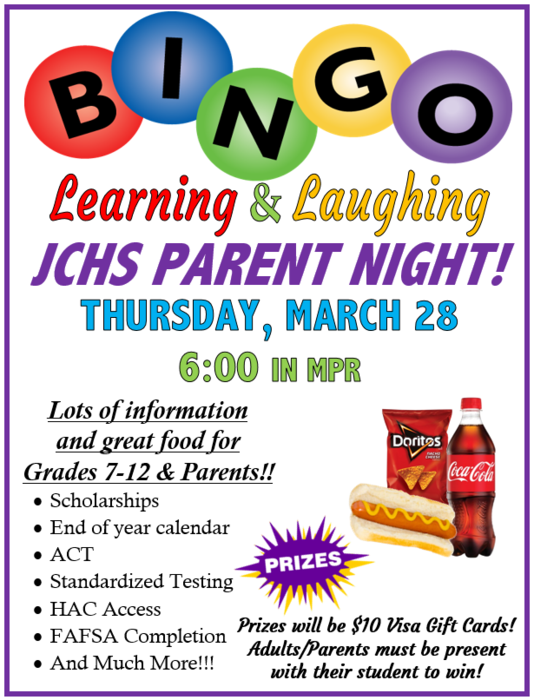 Bingo Parent Night