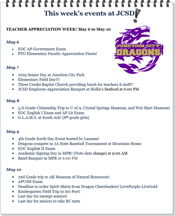 This Week's Events