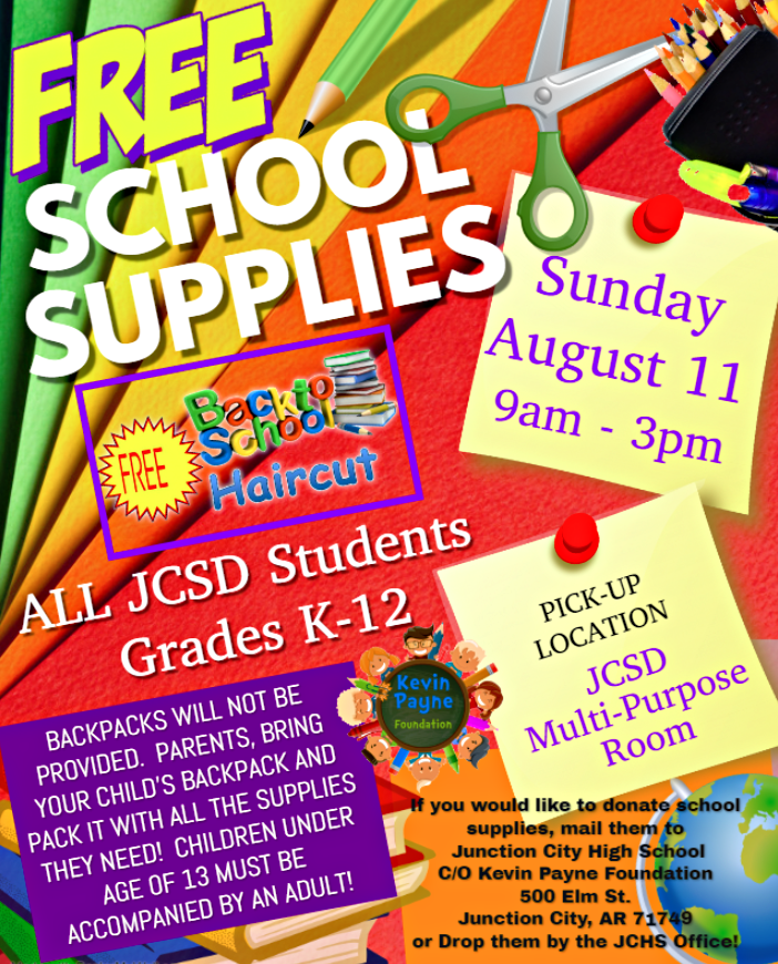 School Supplies & Haircuts Event