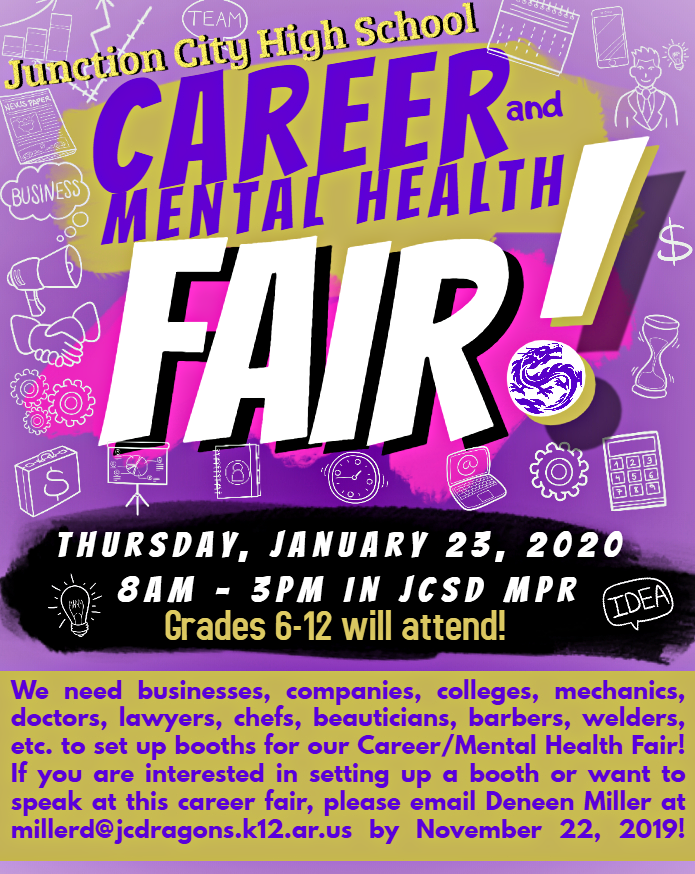 JCHS/NECC Career/Mental Health FAIR!