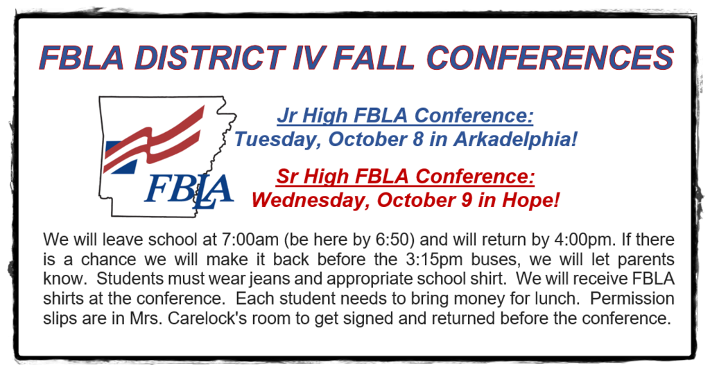 FBLA Fall Conference Information