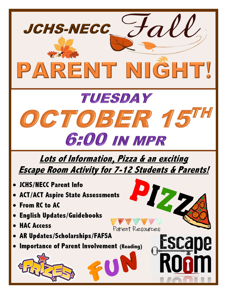 JCHS Fall Parent Night